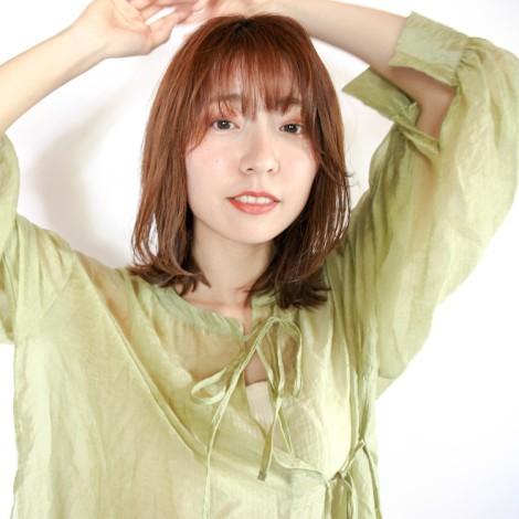 髪と肌に透明感を演出☆大人女子ブラウン